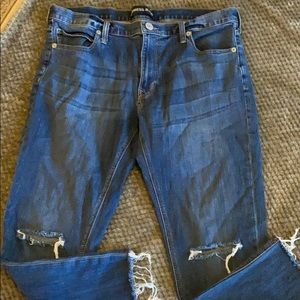 Express Jeans Girlfriend Distressed Jeans